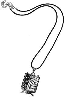 Newin Star Anime Attack on Titan SNK - Collar con Logotipo de Corcho de reclinación de