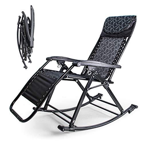DORALO Silla Plegable Zero Gravity Lounge, Sillón Reclinable Ajustable Lounge Lounge, Silla Exterior con Cerradura para Jardín, Patio, Playa, Porche, Piscina, 90 ° - 155 °,B