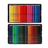 Lihuzmd Set di 72 matite Colorate Colorate, matite idrosolubili per Adulti Bambini Artisti Professionali Perfetto per disegnare Libri da colorare