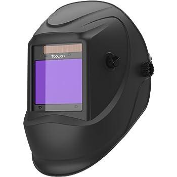 "TOOLIOM Welding Helmet, True Color Auto Darkening 1/1/1/2 Large Viewing 3.94""x 3.27"" Welder Mask Hood with Weld/Grind/Cut Mode for TIG MIG/MAG MMA Plasma Grinding"