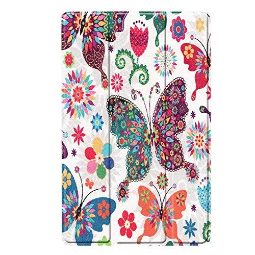 QiuKui Tab Funda para Samsung Galaxy Tab S6 Lite, Estuche de tabletas de patrón PU de Cuero para PC Cubierta Protectora para Samsung Galaxy Tab S6 Lite S6Lite 10.4 P615 P610 (Color : Pattern 3)