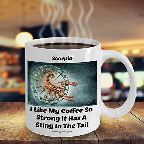 ArthuereBack Schorpie-schorpioen-grappige dierencirkel-sterrenbeeld-koffiemok A2 groot verjaardagscadeau voor koffieliefhebbers Geboren op 23 oktober 21 november