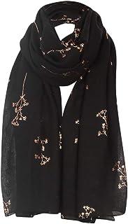Bufanda Mujer Moda 100% Gasa Pañuelos Ligero Chal Bufanda Moda Damas ImpresióN Elegante Viaje Estolas Conveniente Bufanda Larga 1 Piezas 70.9''X27.56''