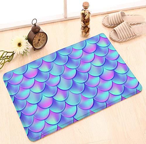 Fußmatte rutschfest Innen/Außen/Haustür/Badezimmer Eingangsmatten Teppiche Teppich von 23,6 x 15,7 Zoll Waage Waage Sternzeichen Icon Mandala Print