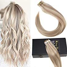 Sunny 16inch Tape in Human Hair Extensions #18 Ash Blonde Mixed #613 Bleach Blonde Human Hair Tape in Remy Hair Extensions 40pcs 100g/pack