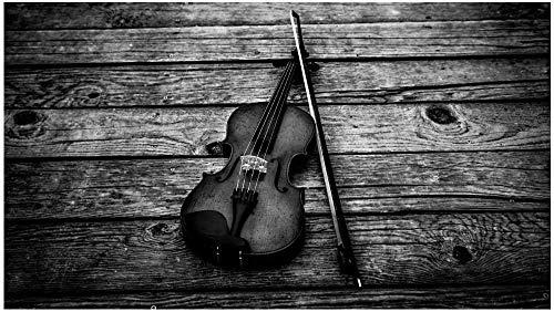 Houten puzzel 1000 stukjes Volwassen kinderen Puzzel Educatief spel speelgoed-Zwarte viool Vrije dag Op maat De beste keuze voor huisdecoraties en geschenken-75x50 cm