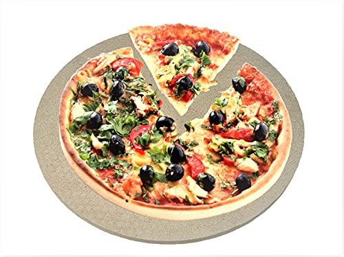 hs-kamine Runder Pizzastein Ø 35 cm x 1 cm Pizzaplatte für Herd und Grill Steinplatte aus Cordierit