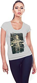 Duck Dynasty Women's Tshirt I Brought the Awesome Design Grey