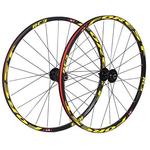 MTB Bike Wheels 26 Inch, Double Wall 27.5 Inch Bike Rim Cycling Hub 5 Palin Hybrid Quick Release 24 Hole 8/9/10/11 Speed (Color : C, Size : 27.5 inch)