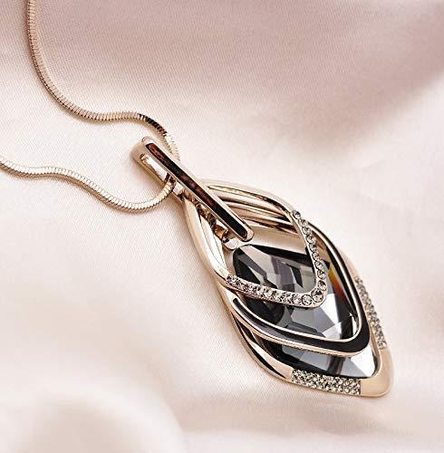 LA FERANI Designer dames lange ketting met hanger goud I mode sieraden set 75cm voor vrouwen I Designer edel & luxe voor vrouwen met bijzondere eisen I Italiaans design