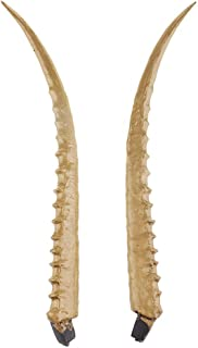 2pcs Artificial Horns Simulation Antelope Horns Antlers Headband Cosplay Costume Accessory DIY Hair Band for Cosplay - Gold, 45cm