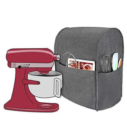 Luxja Abdeckhaube für KitchenAid Küchenmaschine, Anti-Staub Abdeckung für KitchenAid Küchenmaschine und Zubehör(passend für 5,6-7,5 Liter KitchenAid Küchenmaschine), Grau