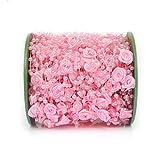 JIACUO 30 mt Angelschnur 12mm Rose Künstliche Perlen