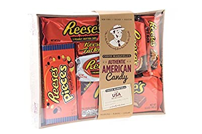 Holland Plastics Original Brand King Sized Authentic American Assorted Hamper - All Your Favourite Pieces of Reeses, Gift Packaged. from Lucky Dip