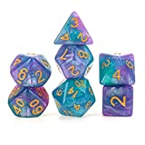 DND RPG MTG juego D & D D4-D20 colores 7pcs dados/Set Poliédrica Dados -Robust y duradero (Color : Blue)