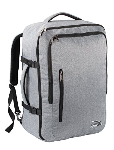 Cabin Max Malaga Travel Backpack and Laptop Bag - Flight Approved (Grey)