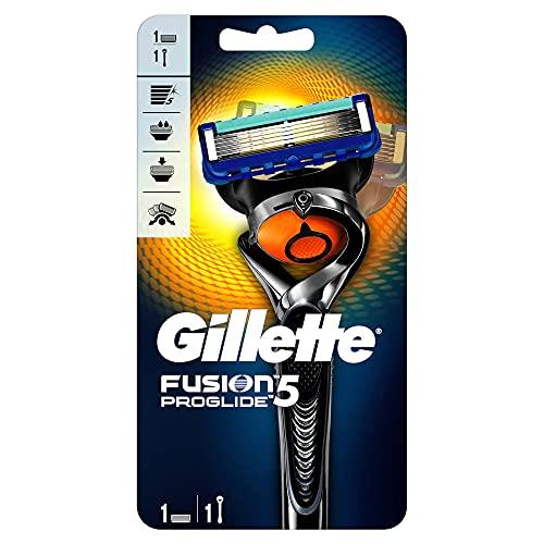 Gillette Fusion ProGlide FlexBall - Maquinilla de afeitar para hombre, 1 cabezal con 5 hojas, color negro