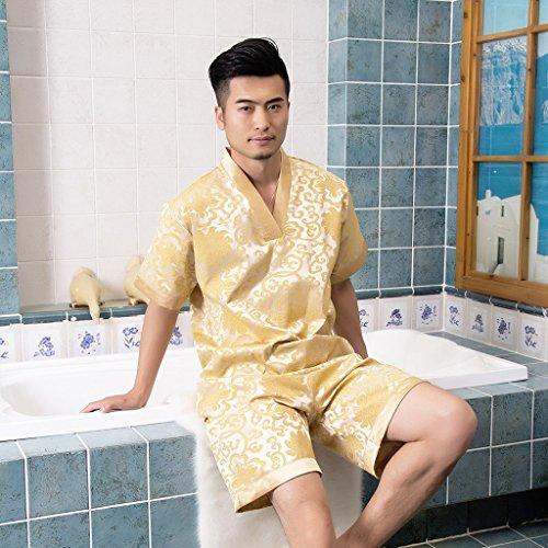 Katoen + Polyester Sweat Stomen Service Mannen En Vrouwen Modellen Badkleding Vrije tijd En Gezondheid Zomer Thuis Badjas Pyjama Sauna Kleding Huispak