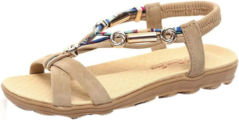 Women's Platform Sandals Peep-Toe Roman Style Ladies Cross Strap Metal Decoration Casual shoes
