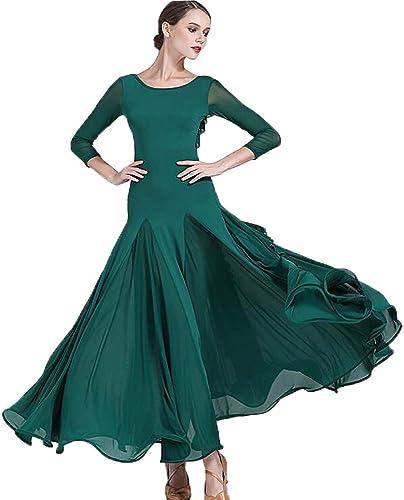 Liu Sensen 2018 Nouveau Style Original Designs De Danse Robe De Retour Falbala Dark vert Latin Belly Dance Costume Volumineux Jupe Grande Taille XL 2XL