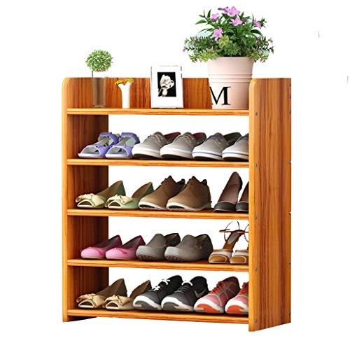 Zapatero Zapatero de múltiples capas, puerta estrecha simple, zapatero, tipo de economía doméstica, imitación de espacio, almacenamiento a prueba de polvo de madera, estante de zapatos pequeños Zapate