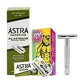 Set rasatura 100 Astra + rasoio di sicurezza Pop