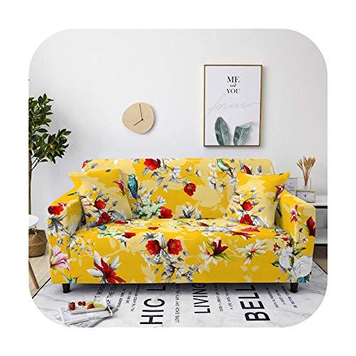 who-care - Funda de sofá de algodón, elástica, para sala de estar, sofá, funda protectora de muebles, toalla de 1/2/3/4 plazas-Sf126-8-4- plazas, 235-300 cm