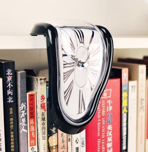 【ノーブランド品】アートウォールクロックアメリカン雑貨 デザイン面白おもしろアンティーク ダリの柔ら...