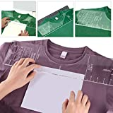 Oulian T-Shirt Ruler Guide Acrylic Vinyl T-Shirt Ruler Guide Alignment Ruler Tool for Vinyl Press and Sublimation HTV Hot Pressing (18 * 5 Inch)
