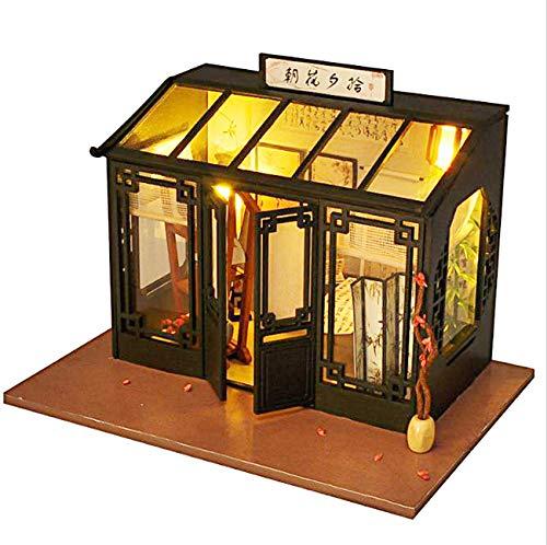 [リトルスワロー] 世界のおしゃれなショップ ミニチュア ドールハウス 模型 DIY 工作キット セット (朝花書画店)
