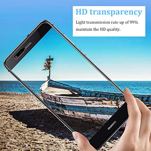 CRXOOX Panzerglas Schutzfolie für Huawei P10 Lite Panzerglasfolie - 9H Härte Folie, Anti Bläschen Anti Kratzen Ultra Dünner HD Displayschutzfolie Panzerfolie - 6