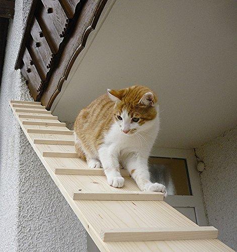 Elmato Katzentreppe Katzentreppe 1-4 Meter erweiterbar (1,98 Meter mit 1 Verbindungsstücke)