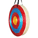 Suzanne Frolada Traditional Archery Targets Round Dart Board Outdoor Round Arrows Hand Made Straw Target 50Cm for Recurve Bow Longbow or Compound Bow