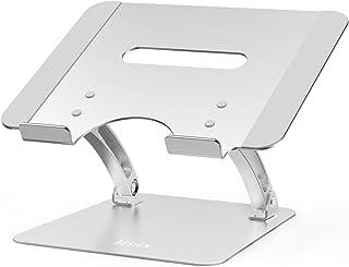 Besign LSX1 Soporte para portátil de aluminio, ergonómico ajustable, soporte para computadora portátil, soporte elevador c...