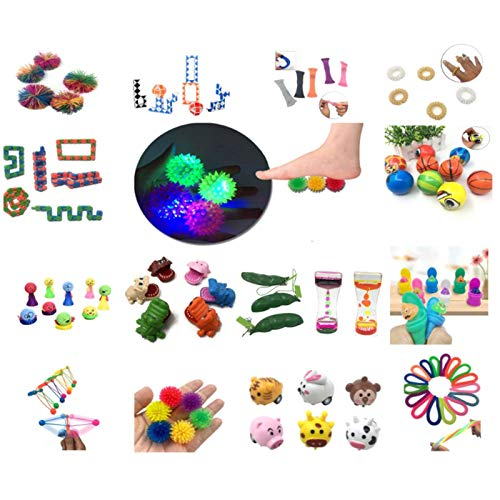 Doans pcs Sensory Fidget Toys Set Stress Relief and AntiAnxiety Toys for Adults Kids ADHD ADD Anxiety Autism Hand Toys Special Toys Assortment for Birthday Party Favors Gifts realistic