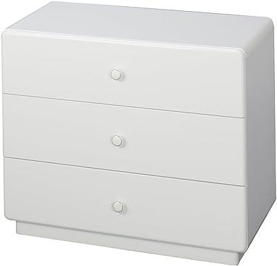 ドウシシャ Minnares ミナリスシリーズ 3段チェスト 55cm幅 ホワイト 幅 74.5×奥行 40×高さ 61.5cm MU7560W-3H