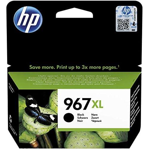 HP 967 XL 3JA31AE, Cartuccia Originale, ad Elevata Capacità, da 3.000 Pagine, Compatibili con le Stampanti a Getto di Inchiostro OfficeJet Pro Serie Pro 9020 AIO, 9022 AIO e 9025 AIO, Nero