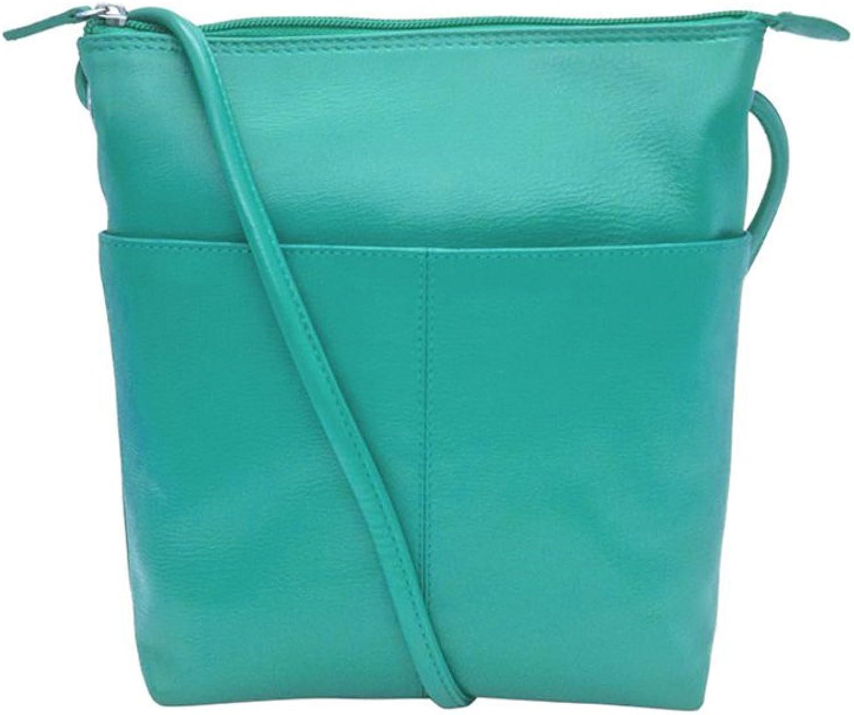 Ili Leather 6661 Midi Sac Crossbody Handbag with RFID Lining