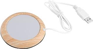 Creative USB Wood Insulation Grain Cup Heat Beverage Mug Mat Warmer Office Tea Milk Coffee Felt Heater Pad Coaster(Bright ...