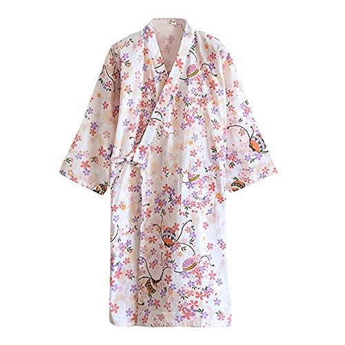 バスローブ 甚平 パジャマ 浴衣 レディース 綿100% 二重ガーゼ 肌触り 和風 花柄 可愛い 前開き 寝巻き ホームウェイ 作務衣 作業着 旅館 ホテル