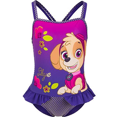 Costume da bagno Paw Patrol per bambina., viola, 4 anni