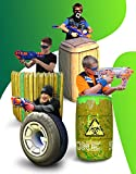 Skywin Obstacles for Nerf - Easy Set Up Inflatables for Kids Party - for Nerf Battle Obstacles Great for Nerf Gun Party, Great Shelter for Nerf Battle, Laser Tag Game - 4 Pieces