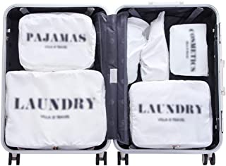 Packing Cubes Clothing Storage Bag Travel Shoes Storage Bag Luggage Sub-Bags Portable Packaging Sorting Bags QDDSP (Color : White)