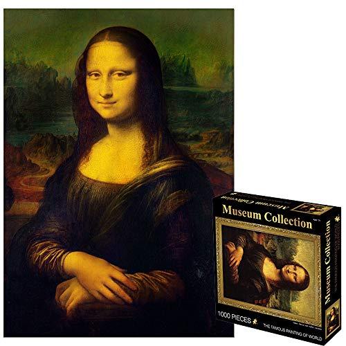 Puzzle Juegos for Adultos de los niños 1000 Aceite Piezas Rompecabezas Mundial de la Famosa Pintura de Mona Lisa 27,5 x 19,68 Pulgadas