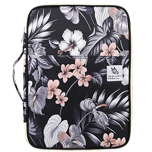 Waterproof Travel Portfolio A4 Document Bag, JAKAGO Business File Holder Organizer Multi-functional Zippered Case Meeting Interview Pouch for 13