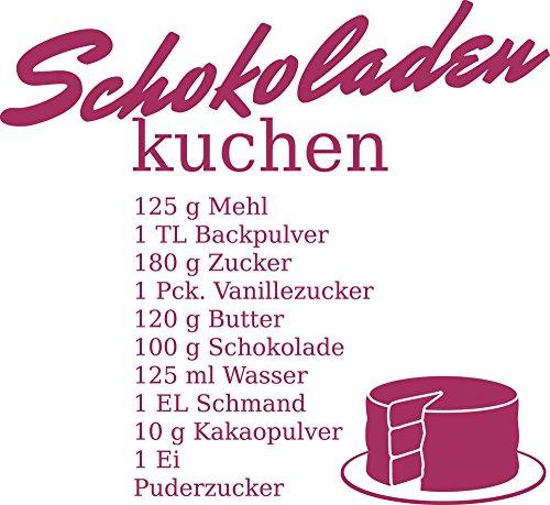 GrazDesign 620603 Muurtattoo Keukenspreuk chocolade-keukenrecept, cadeau voor mama, wanddecoratie voor café, bar, kroeg, als sticker, zelfklevende plakfolie 62x57cm 821 Magnolia