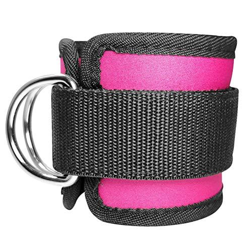 Breale - Hebilla para el pie, 1 par de anillos en D, correa ajustable de neopreno acolchada, protección para el tobillo, muslo, tobillo, puños, equipo de construcción