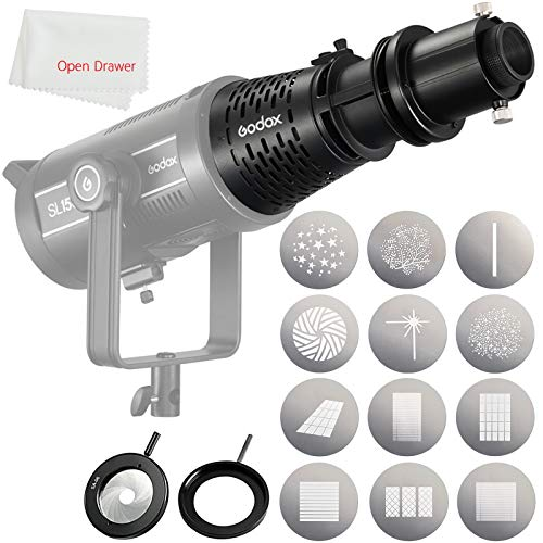 Godox SA-17 Kit for Godox SA-P Projector to Bowens Mount S30 VL150 VL200 VL300 SL200II LED Continuous Light with Godox SA-P Projection Attachment + Godox SA-06 Iris + Godox SA-09-003/004 + Godox SA-10