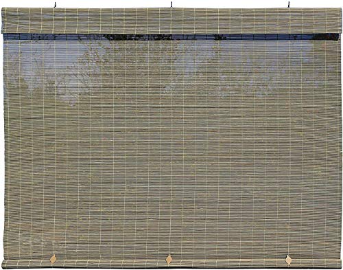 """Radiance Matchstick Cord Free Roll-Up Shade, 72"""" x 72"""", Driftwood"""