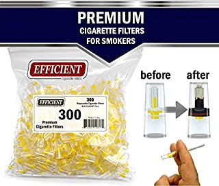 Efficient Cigarette Filter Tips Holders 8 Holes Extra Filtration System Regular Size Cigarettes & Roll Your Own (Not Slim) Bulk Economy Pack (Total 300 Filters)